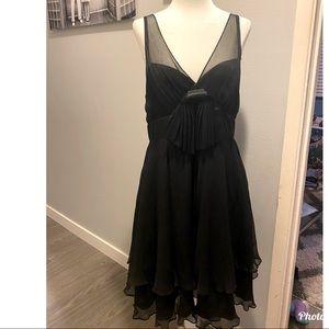 Betsey Johnson Silk Chiffon Bow Dress Size 10